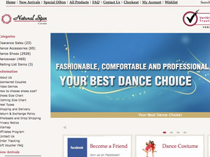 Natural Spin Dance Shoes & Dancewear