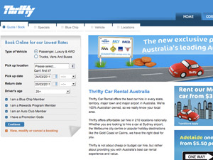 Thrifty Car Rental Australia